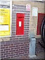 TL8619 : Railway Station Victorian Postbox by Adrian Cable