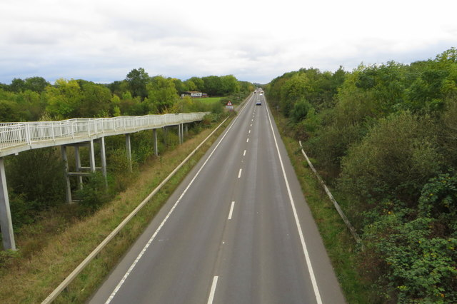 A6 from the footbridge