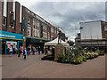 SJ8847 : Stanley Matthews statue, Hanley town centre by Brian Deegan