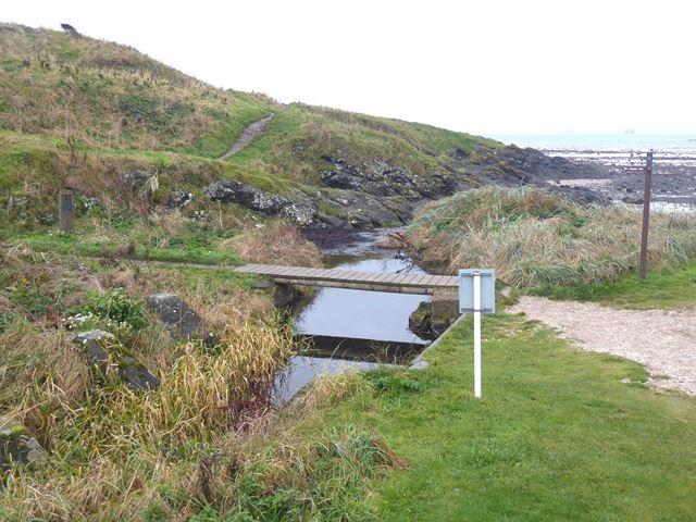 Footbridge on the Fife Coastal Path