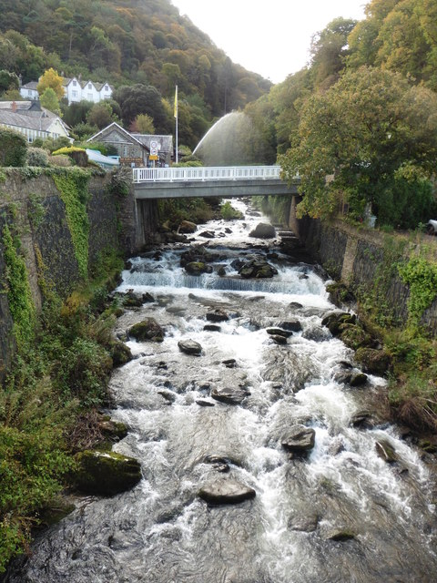 The West Lyn cascades down into Lynmouth
