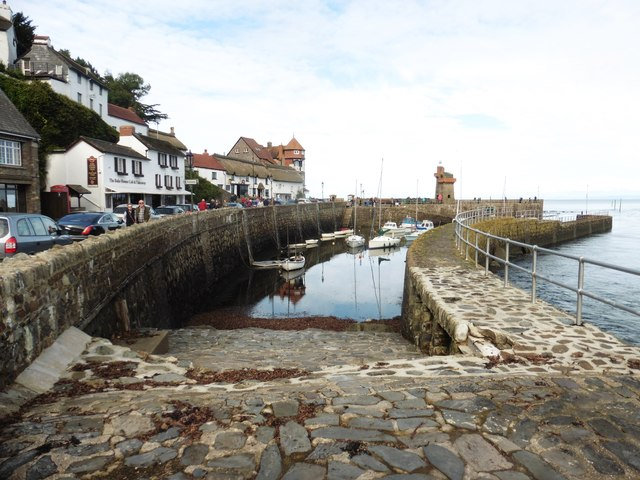Lynmouth harbour at high tide