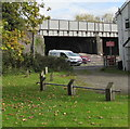 SO5058 : South side of a railway bridge, Leominster by Jaggery