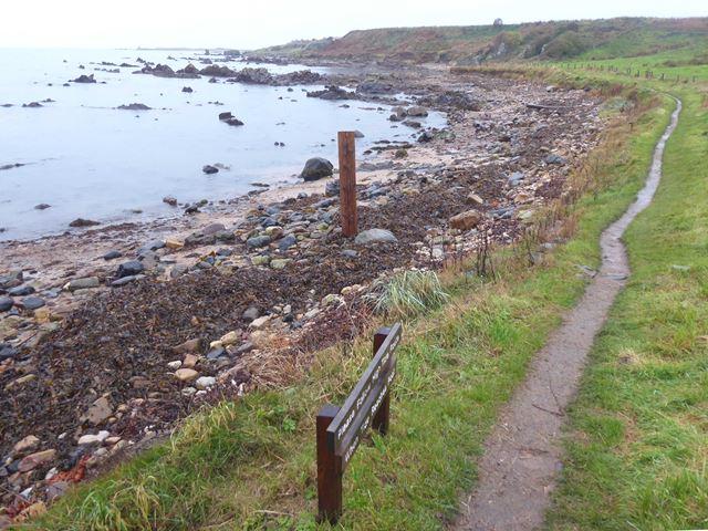 Fife Coastal Path west of Newark Castle
