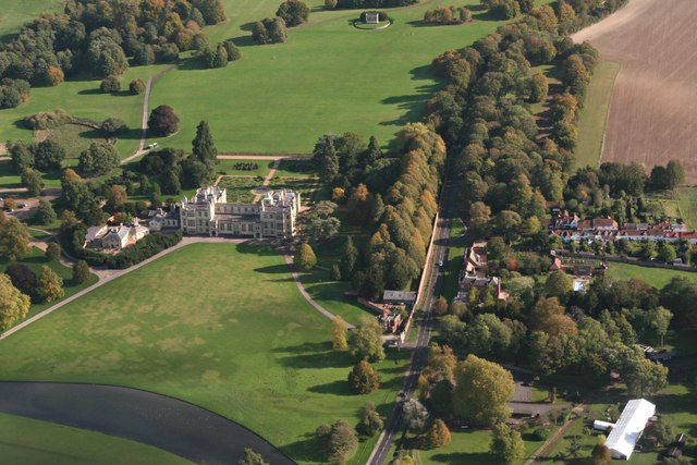 Audley End: aerial 2019 (2)