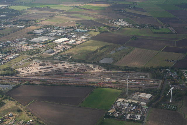 Railway sidings at March: aerial 2019 (1)