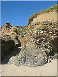 SW5842 : Raised beach deposits by Jonathan Wilkins
