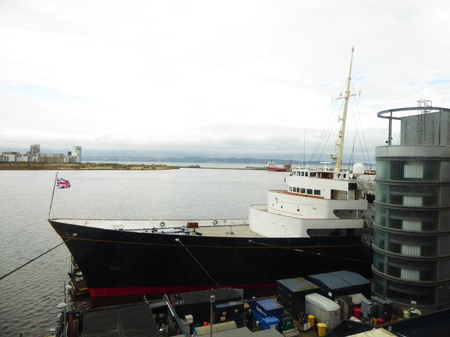 The bow of the Royal Yacht Britannia