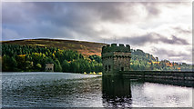 SK1789 : Towers on the Derwent Dam by Peter Moore