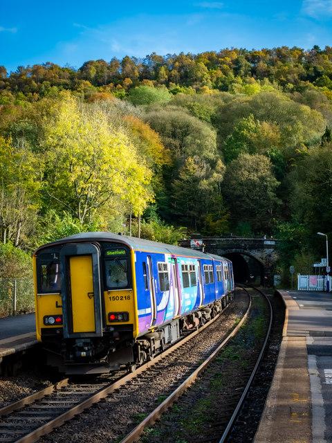 Sheffield bound service at Grindleford