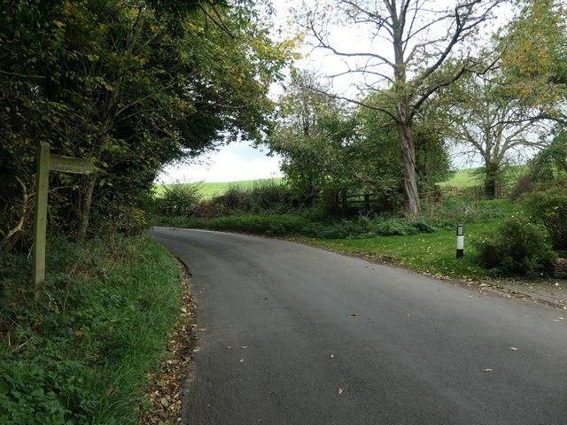 Footpath entrance at Oatlands Cottage