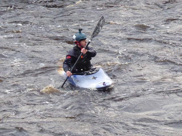 Whitewater canoe on the Tyne