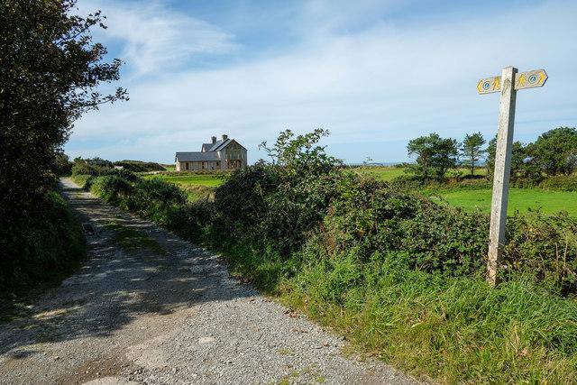The Wales Coast Path at Lon Penrallt