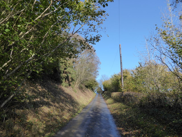 Steep lane near Hope Valley