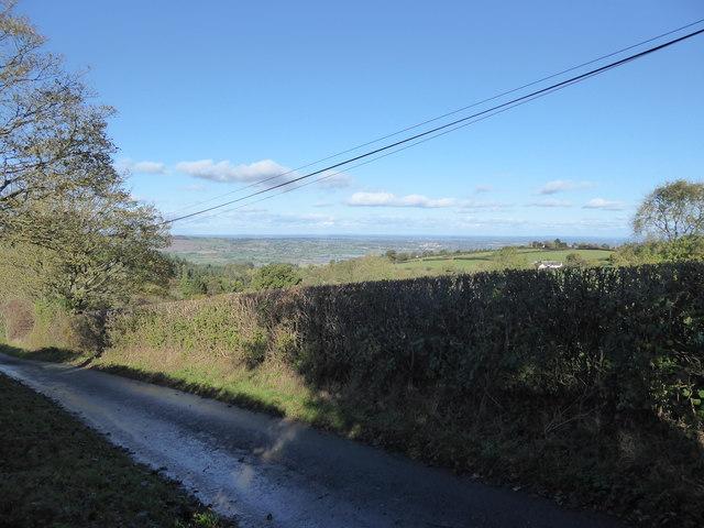 View westwards from below Bromlow Callow