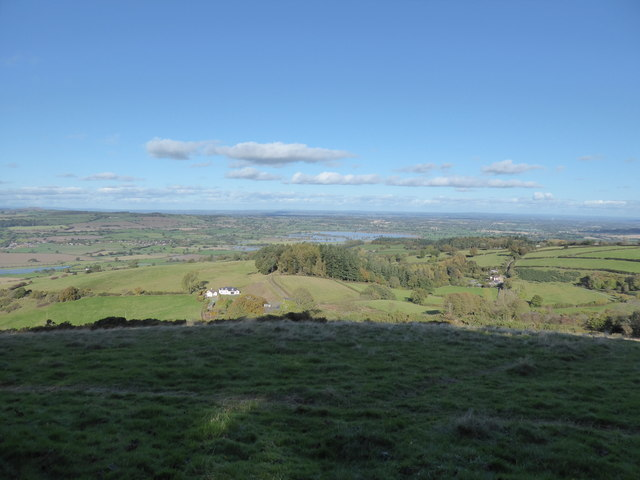 View westward from Bromlow Callow in autumn