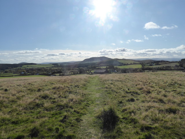 View towards Corndon Hill from the top of Bromlow Callow