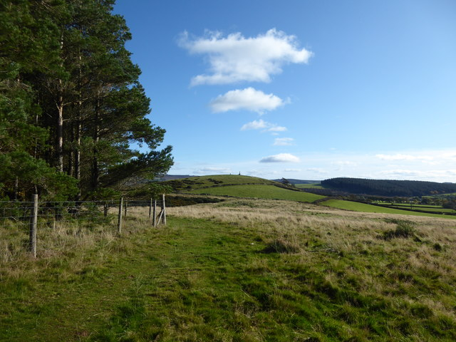 View eastwards from Bromlow Callow