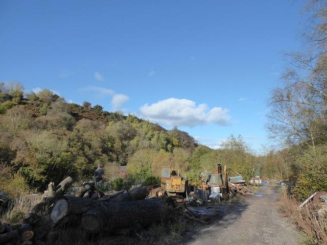 Scrapyard near the Hope Valley