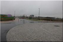 SU1382 : New roundabout on Peglars Way, Wichelstowe by David Howard