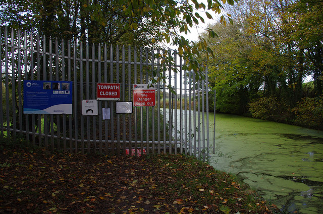 Towpath closure, Lancaster Canal