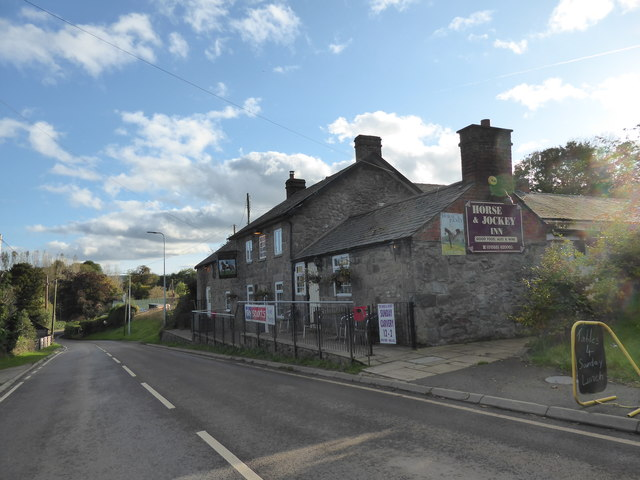 The Horse & Jockey pub at Churchstoke, Powys