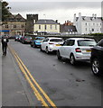 SH7877 : On-street parking, Rosemary Lane, Conwy by Jaggery