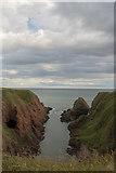 NO6641 : Dickmont's Den, Seaton Cliffs by Adrian Diack