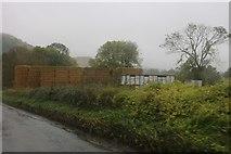 SU3187 : Straw bales by the B4507 near Kingston Lisle by David Howard