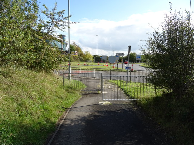 National Cycle Route 4 near Junction 2, M48 Motorway