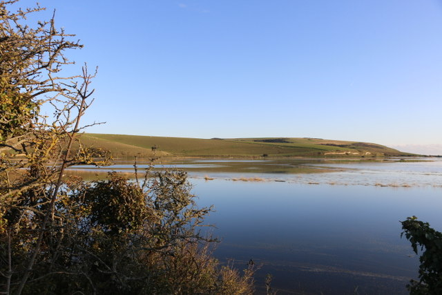 Flooded meanders on the River Cuckmere