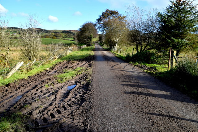 Muddy along Legnabraid Road by Kenneth  Allen