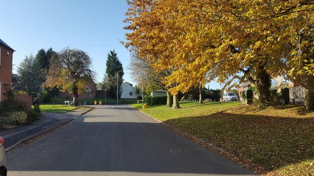 Residential street in Hathern.