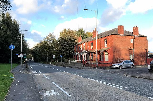 Houses on Warrington Road, Wigan