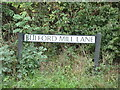 TL7720 : Bulford Mill Lane sign by Geographer
