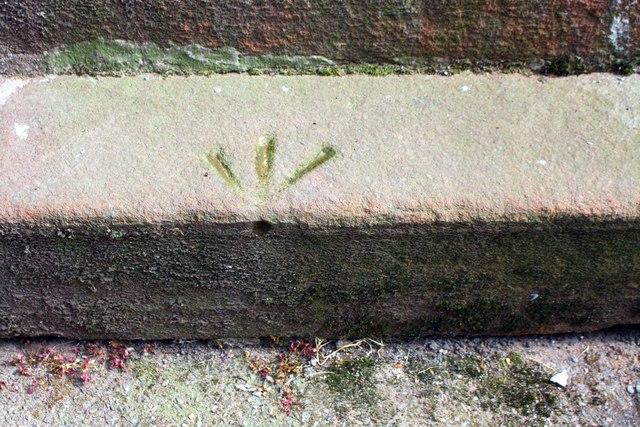 Benchmark on step of #2 Hartington Place