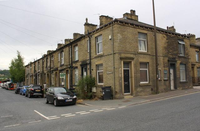 Houses of George Street at Wakefield Road junction
