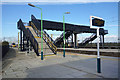 SP9218 : Footbridge at Cheddington Station by Des Blenkinsopp