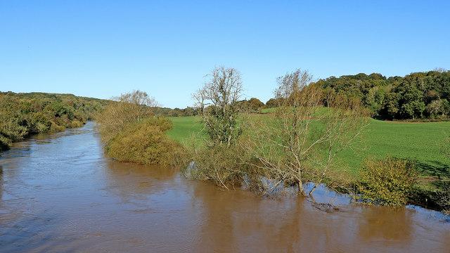 River Severn west of Alveley in Shropshire