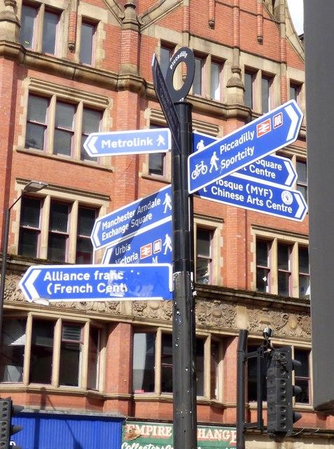 Manchester signage