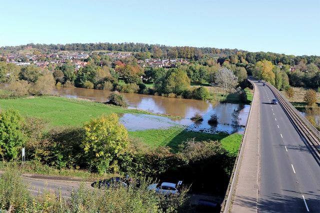 River Severn south of Bridgnorth in Shropshire