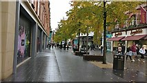 SK5804 : The High Street in Leicester by Mat Fascione