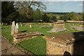 ST5312 : Churchyard, St Michael's church, East Coker by Derek Harper