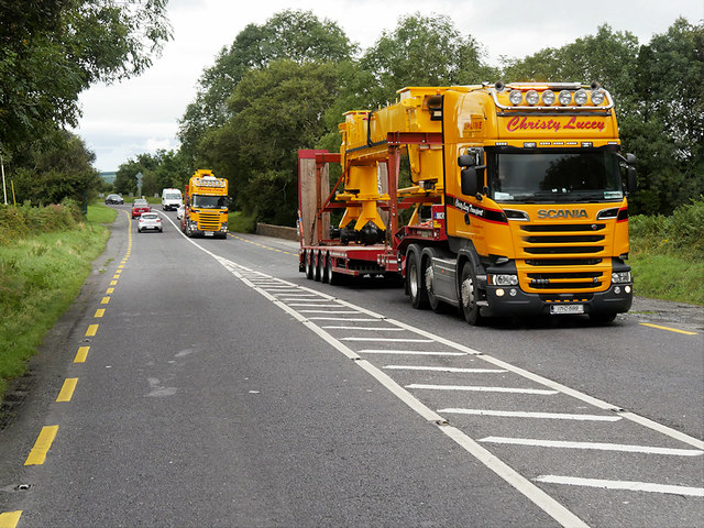 Yellow Trucks on the N22, Upper Coolcorcoran