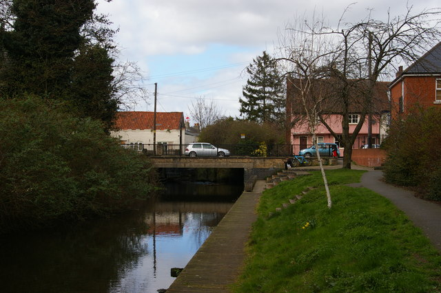 River Gipping in central Stowmarket