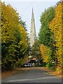SP0382 : The spire of St Mary's church, Selly Oak by Philip Halling