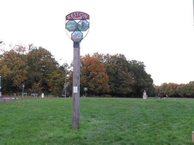 Keston village sign