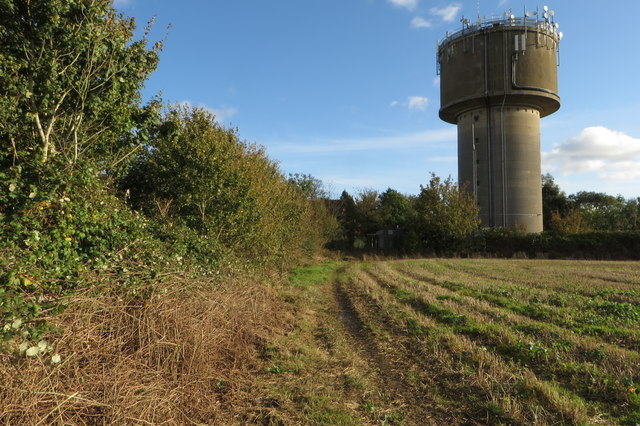 Footpath and water tower