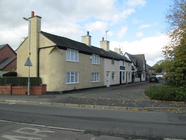 Former road junction in Whittington