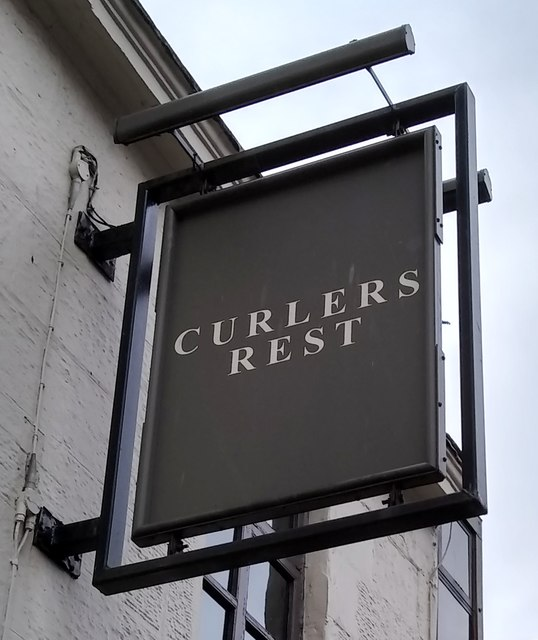 Sign for Curlers Rest